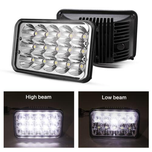 """4Pcs DOT 4X6/"""" LED Headlights For Western Star 4900 Semi Truck Peterbilt 357 378"""