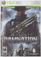 DAMNATION  (Xbox 360, 2009) INCLUDES INSTRUCTIONS