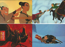 lot de 4 cartes postales - Disney Mulan - Postcard - Cartolina