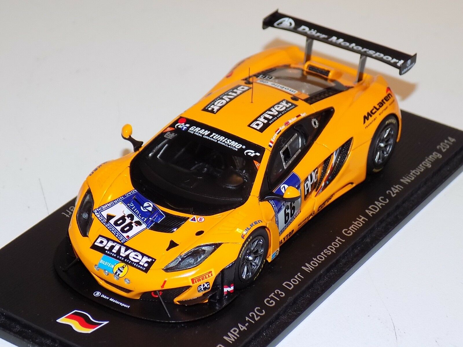 1  43 Spark McLaren MP4 -12 C GT3T bil Hours of Nurburgring 2014 SG154