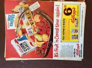 G1n ephemera 1967 advert kelloggs kelloggs fruit n cereal time again - Leicester, United Kingdom - G1n ephemera 1967 advert kelloggs kelloggs fruit n cereal time again - Leicester, United Kingdom