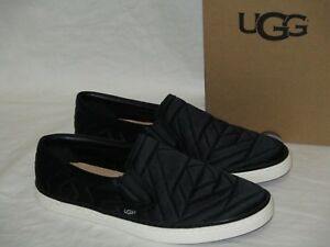 793f8d26b26 Details about NEW WOMENS S 9 BLACK UGG SOLEDA QUILTED SATIN TRAINERS  SLIP-ON SNEAKERS LOAFERS