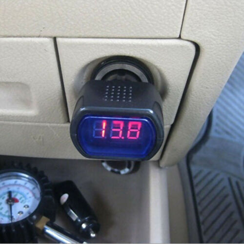 1x Numérique LED Voltage Mètre Voiture Batterie Électrique Testeur Prise Pièces
