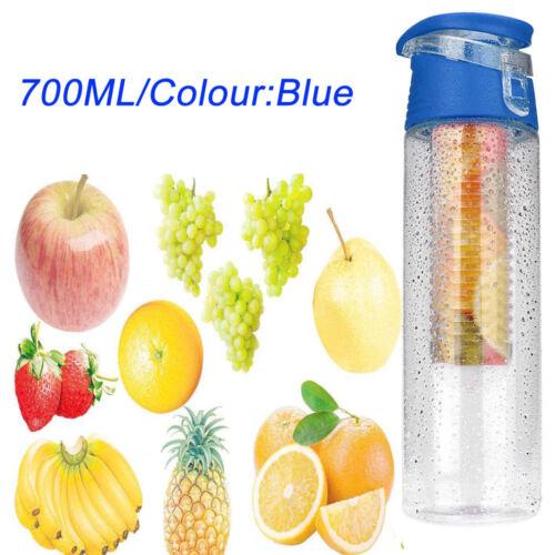 2x700ML Take EASY FRUIT fuzer Infusant couple bouteille d/'eau sports Juice Maker UK