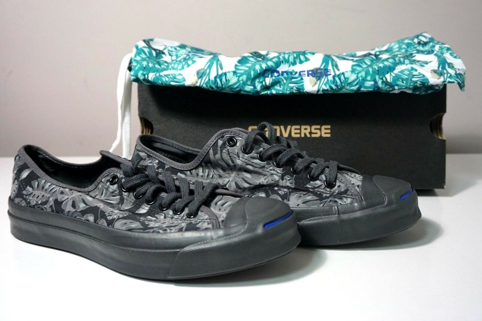 Converse Jack Purcell Signature Monstera Tropical Sneakers 153151C Sz M 8 W 9.5