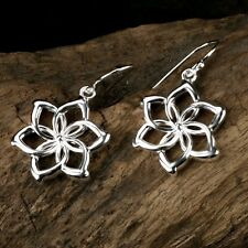 Nice LORD OF THE RINGS NENYA Elven Queen 925 Sterling Silver Flowers Earring