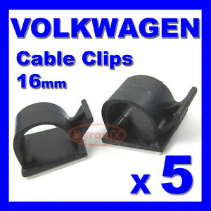 vw self adhesive cable clips wiring wire loom harness 16mm. Black Bedroom Furniture Sets. Home Design Ideas