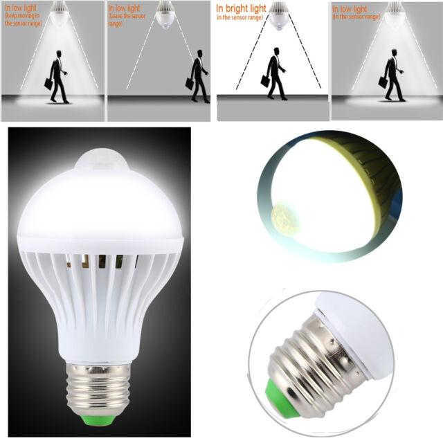 5W/7W/9W LED PIR Motion Sensor Auto Lamp Bulb Infrared Energy Saving Light E27