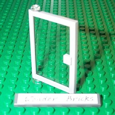 Lego Door 1 x 4 x 5 Left and right with Trans-Clear Glass Set 10182,10190,10159