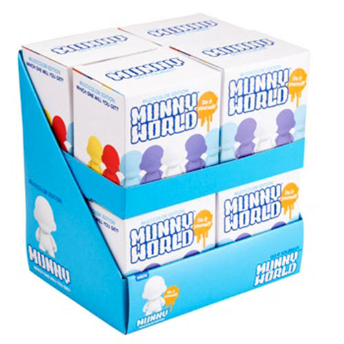 "KIDROBOT - 2.5"" Micro Munny DIY Blind Box Vinyl Figurines Display (8ct) #NEW"