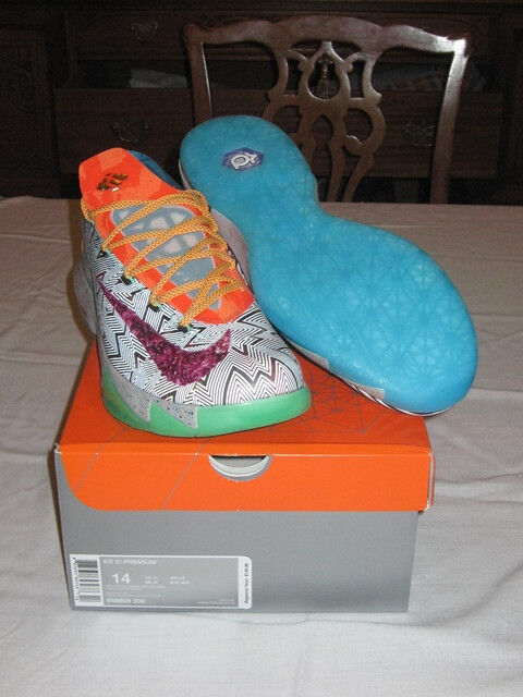 Nike KD VI 6 What The sz 14 DS Kevin Durant AllStar Xmas Nerf BHM EXT 669809-500