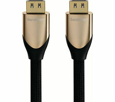 SANDSTROM S1HDM315 HDMI Cable with Ethernet - 1M gold series 4K  UK SALE..