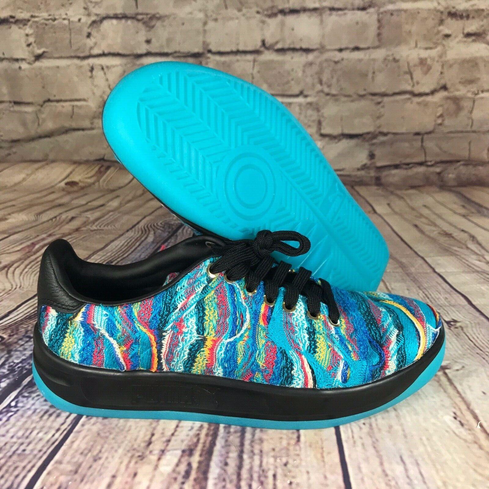 Puma x Coogi Suéter Azul California Multi Zapatos atolón Negro 367973-01