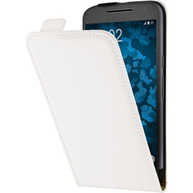 Artificial Leather Case for Motorola Moto G4 Flip-Case white