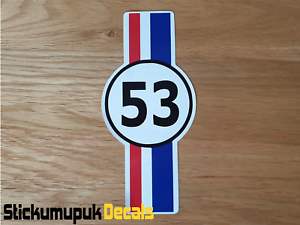53-Herbie-Strip-Sticker-Decal-for-Car-Beetle-Camper-Van-Surf-sticker-180mm
