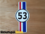 53-Herbie-Strip-Sticker-Decal-for-Car-Beetle-Camper-Van-Surf-sticker-180mm thumbnail 1