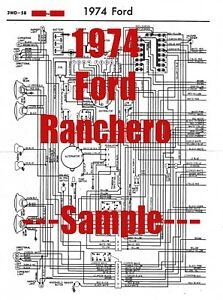 1974 Ford Ranchero Full Car Wiring Diagram *High Quality ...