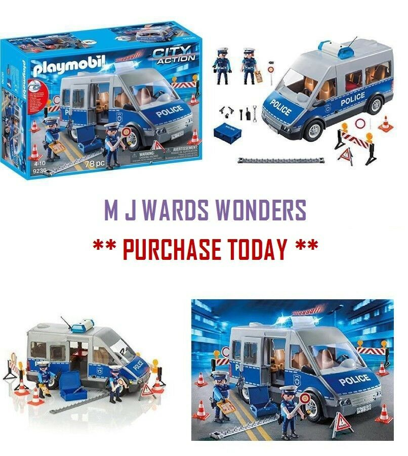 Playmobil 9236 City Action Policemen With Van, Flashing Lights And And And Sound - Multi 2334c2