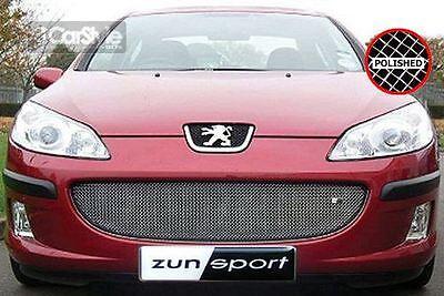 ZunSport Peugeot 407 pre-FL 2004-2007 Polished Steel Mesh Lower Grille