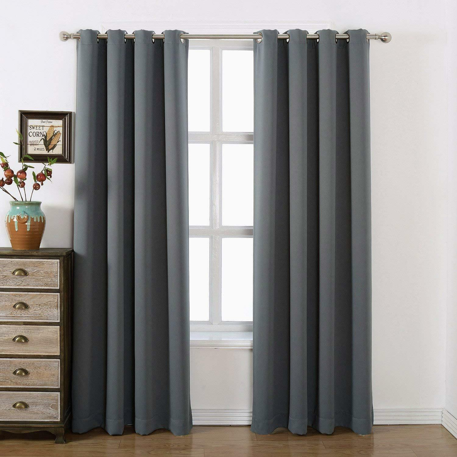 Luxury Thermal Blackout 40-70% Curtains Made Eyelet Ring Top