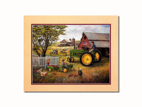 John Deere Tractor Drivin/' Man Wall Picture 8x10 Art Print