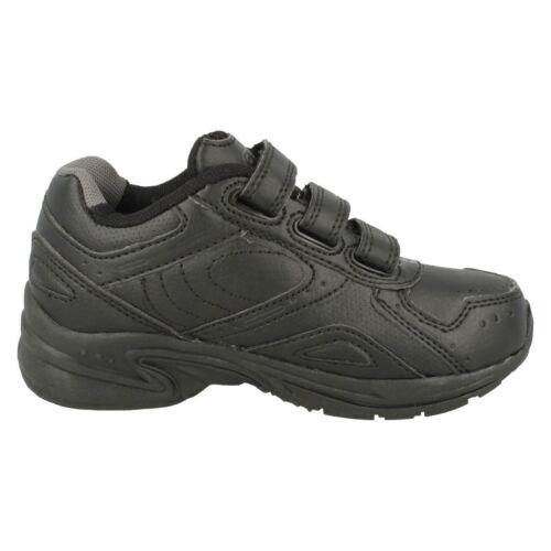 Enfants Garçons Hi Tec XT115 EZ JNR Riptape Sangle Noir School Trainer Chaussures