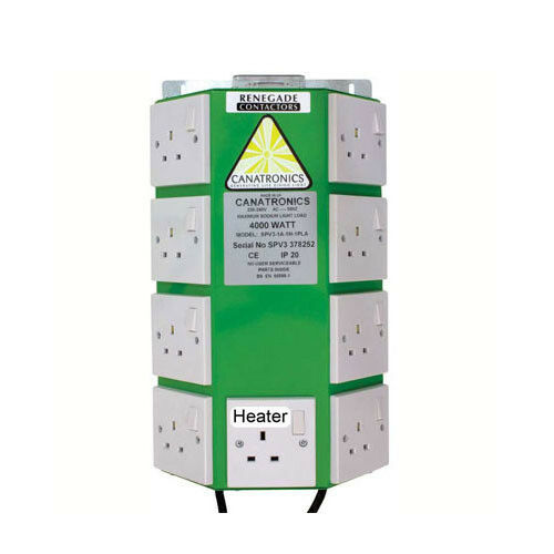 FREE 24HR SHIP Canatronics Renegade Contactor V8 Hydroponics Heater Plug 8 Way