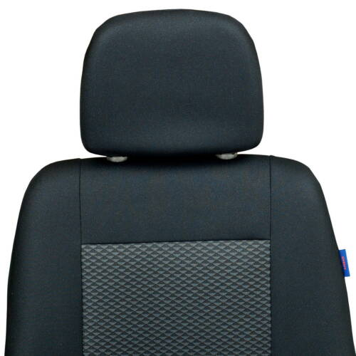 Schwarz-Graue Sitzbezüge für FIAT SCUDO Autositzbezug VORNE NUR FAHRERSITZ
