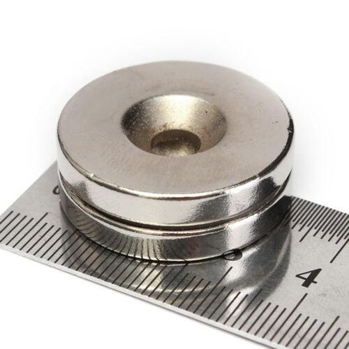 2X 30X5MM 5MM Loch N50 Super Stark Rund Scheibe Selten Erde Neodym Magnet Faddi