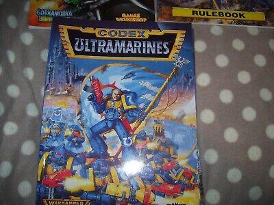Amichevole Warhammer Games Workshop Libro Softback Ultramarine Codex-mostra Il Titolo Originale Fabbriche E Miniere