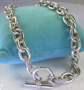 Image Is Loading Estate Slane Amp Sterling Silver Diamond Toggle
