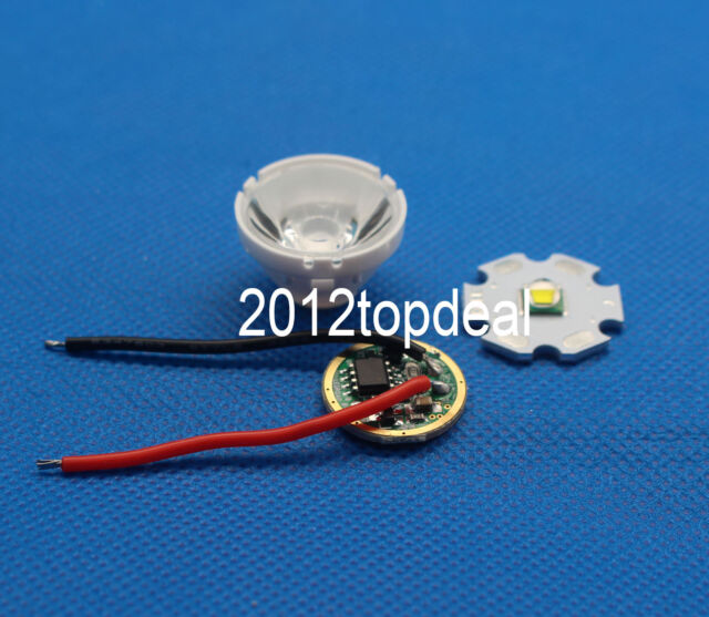 1set Cree XM-L LED T6 Warm White Light + 3.7V Driver + Lens with Base Holder