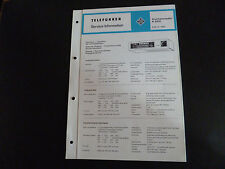 Schaltbild  Service Informationen Telefunken  Küchenradio K 205