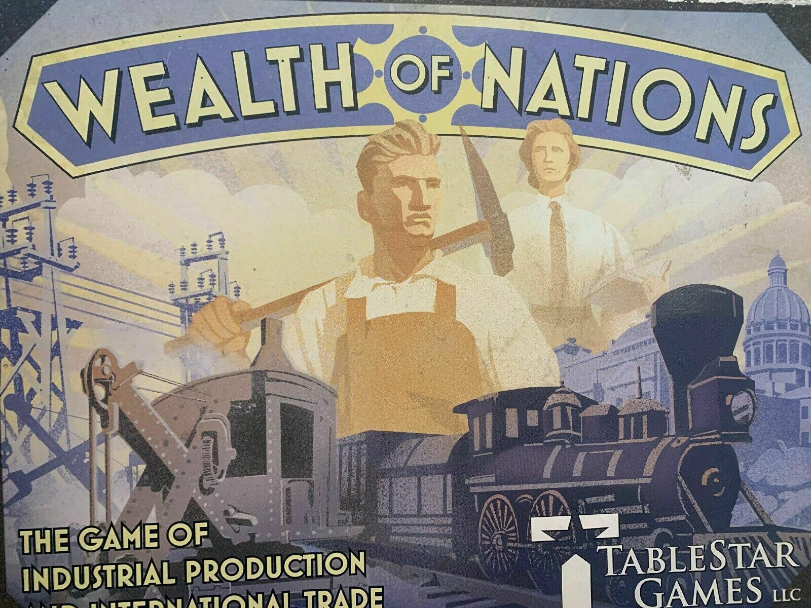 Wealth of Nations + 2 EXPANSIONS (Super industry+War Cloud) Board Game - USED
