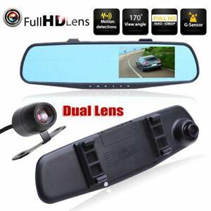 Specchietto-retrovisore-con-2-telecamere-Dash-Cam-DVR-Full-HD-retromarcia