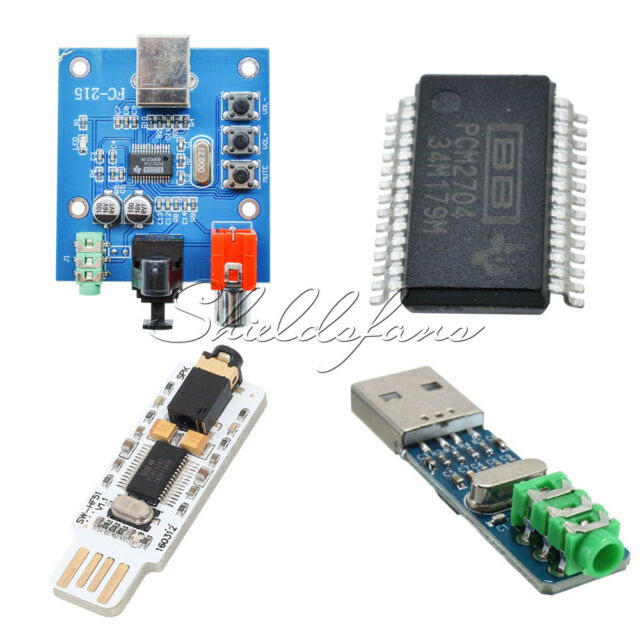 1332# 5V USB Powered PCM2704 Mini Sound Card DAC Decoder Board For PC Computer