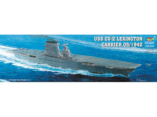 ◆ Trumpeter 1 350 05608 USS CV-2 LEXING70N CARRIER 1942