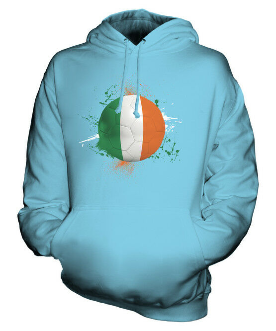 IRELAND FOOTBALL UNISEX HOODIE TOP GIFT WORLD CUP SPORT