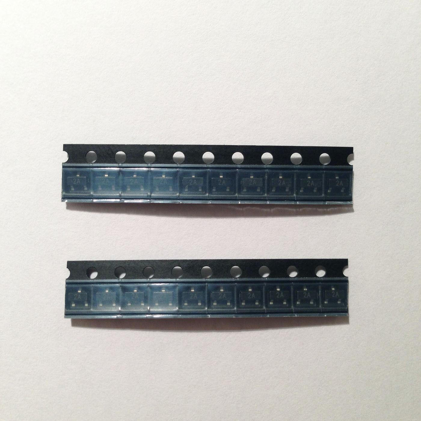 2 x bf579 silicon pnp planar RF transistor 200mw 20v 25ma siemens sot-23 2pcs