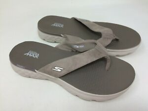 Details about New wdefect Women's Skechers 14658 On the Go 400 Essence Thong Sandal Taupe 3O