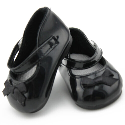 Fashion Doll Shoes Fits 18/'/' American Girl Doll Black Leather Shoes Reborn Dolls