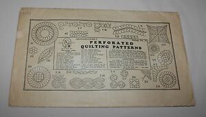 1934 Grandmothers Perforated Quilting Patterns W L M Clark Package 32 Reusable