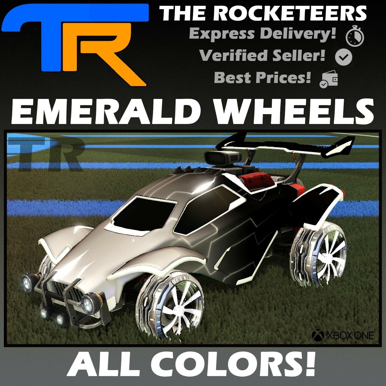[XBOX] Rocket League Every Painted EMERALD Limited Wheels RLCS Reward