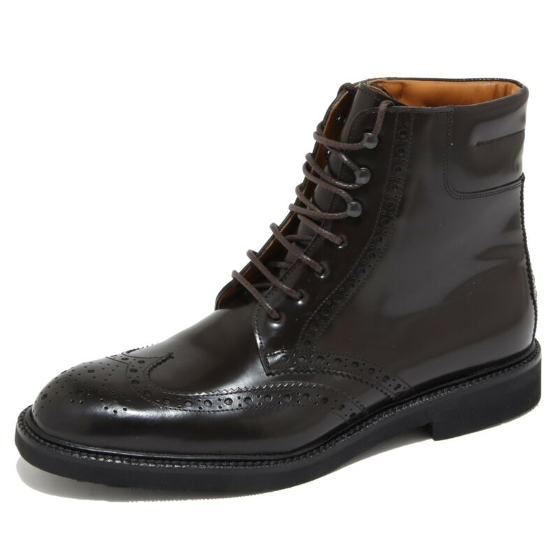 4348n Stivale Uomo J. Holbens Tronchetto Marrone Shoes Boots Man