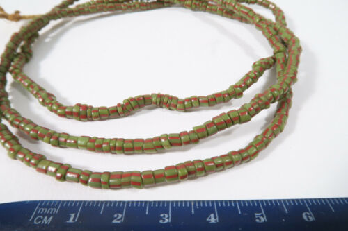 Alte Glasperlen Venedig Murano AF56 Old Venetian Striped trade beads Afrozip