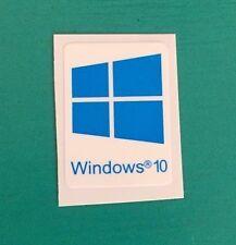 1 PCS Windows 10 Sticker Case Badge Logo Decal Blue Cyan Color Win 10 USA Seller