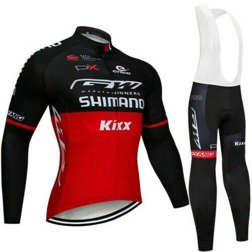 Da Uomo Manica Lunga Ciclismo Bib Pantaloni Set Kit Bicicletta Tuta Outdoor road bike jersey