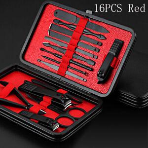Mens Women Heavy Duty Steel Nail Clipper Set Finger Nails Cutter Grooming Kit