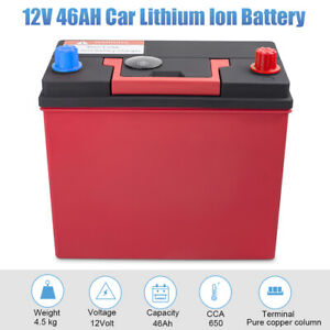 Lithium Ion Car Battery >> Details About 46b24l 12v 46ah 650cca Lithium Iron Phosphate Battery Lifepo4 For Auto 4wd Car