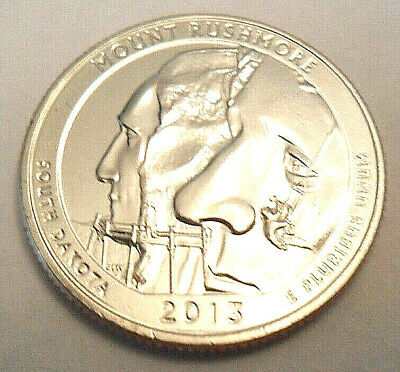 Mint or Bank BU 2013 Mont Rushmore D Am Bea Quarter Roll From Bag Uncirculated